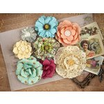 Prima - Cigar Box Secrets Collection - Flower Embellishments - Londsdale
