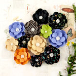 Prima - Forever Green Collection - Flower Embellishments - Hybrid