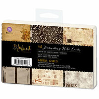 Prima - The Archivist Collection - 4 x 6 Journaling Note Cards