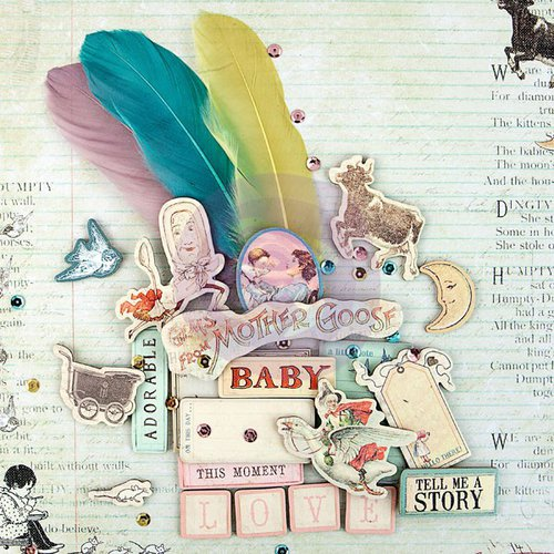 Prima - Bedtime Story Collection - Chipboard Stickers and More