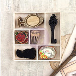 Prima - Bella Rouge Collection - Wood Embellishments - Icons