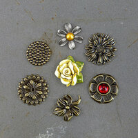 Prima - Timeless Memories Collection - Metal Trinkets - Reflection