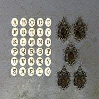 Prima - Timeless Memories Collection - Metal Trinkets - Recaptured Alphas