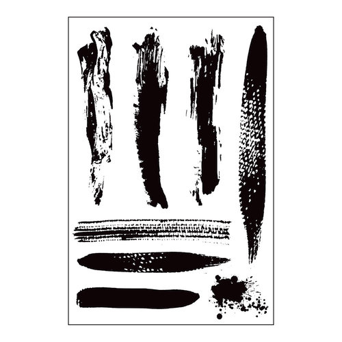 Prima - Cling Mounted Stamp - Brush Strokes
