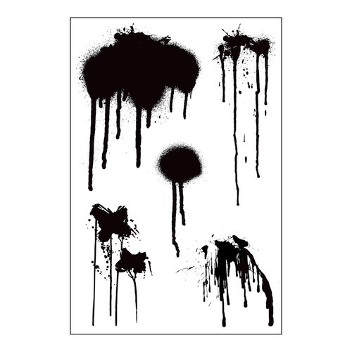 Prima - Cling Mounted Stamp - Paint Drips