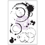 Prima - Cling Mounted Stamp - Coffee Stains