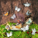 Prima - Sylvan Collection - Butterfly Embellishments - Mariposa