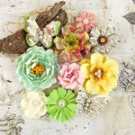 Prima - Garden Fable Collection - Flower Embellishments - Biennial