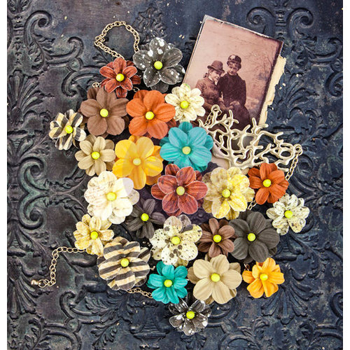 Prima - Timeless Memories Collection - Flower Embellishments - Remembrance