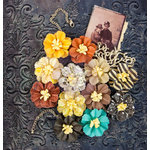 Prima - Timeless Memories Collection - Flower Embellishments - Retrospect