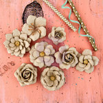 Prima - Allure Collection - Flower Embellishments - Acacia