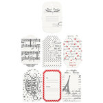 Prima - A Victorian Christmas Collection - Resist Tags and Tabs