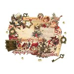 Prima - A Victorian Christmas Collection - Chipboard Stickers and More