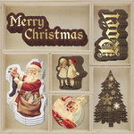 Prima - A Victorian Christmas Collection - Wood Embellishments - Icons