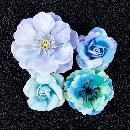 Prima - Watercolor Collection - Flower Embellishments - Aquamarine