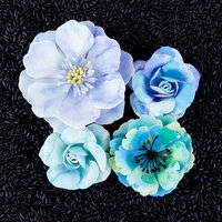 Prima - Watercolor Collection - Flower Embellishments - Aquamarine