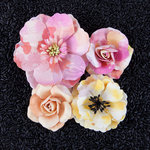 Prima - Watercolor Collection - Flower Embellishments - Rose Quartz