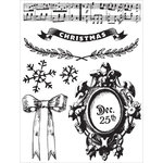 Prima - A Victorian Christmas Collection - Clear Acrylic Stamps - One