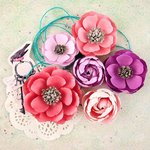 Prima - Royal Menagerie Collection - Flower Embellishments - Elizabeth