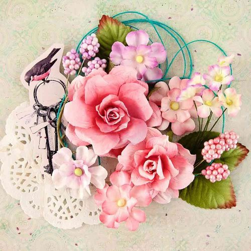 Prima - Royal Menagerie Collection - Flower Embellishments - Helena