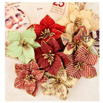 Prima - A Victorian Christmas Collection - Flower Embellishments - Twelfth Night