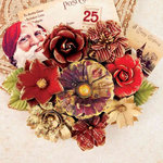 Prima - A Victorian Christmas Collection - Flower Embellishments - Pere Noel