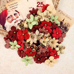 Prima - A Victorian Christmas Collection - Flower Embellishments - Rudolph's Nose