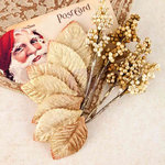 Prima - A Victorian Christmas Collection - Flower Embellishments - Red Stocking