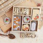 Prima - Vintage Emporium Collection - Wood Embellishments - Icons