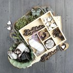 Prima - Salvage District Collection - Wood Embellishments - Icons