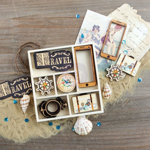 Prima - French Riviera Collection - Wood Embellishments - Icons