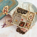 Prima - Tales of You and Me Collection - Wood Embellishments - Icons
