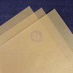 Prima - 8.5 x 11 Vellum Sheets - Gold - 10 Pack