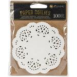 Prima - Paper Embellishments - Paper Doilies - 4 Inches White
