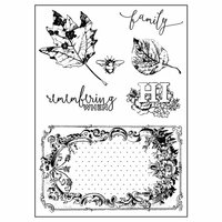 Prima - Vintage Emporium Collection - Clear Acrylic Stamps - Mix 2