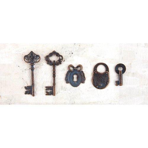 Prima - Metal Patina Trinkets - Keys