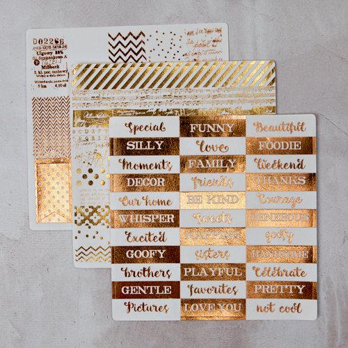 Prima - Foil Washi Stickers - Rosibelle