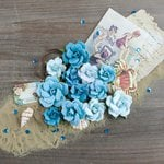 Prima - French Riviera Collection - Flower Embellishments - Deep Blue Sea