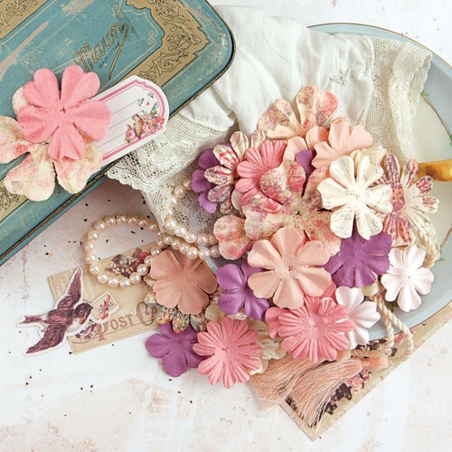 Prima - Tales of You and Me Collection - Flower Embellishments - Forever Always