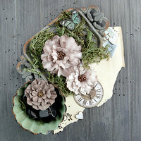 Prima - Salvage District Collection - Flower Embellishments - Industrialle
