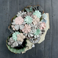 Prima - Salvage District Collection - Flower Embellishments - Salvaged