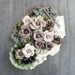 Prima - Salvage District Collection - Flower Embellishments - Galerie D' Orleans