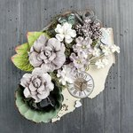 Prima - Salvage District Collection - Flower Embellishments - Marble Court