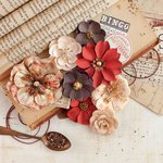 Prima - Vintage Emporium Collection - Flower Embellishments - Opera