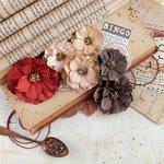 Prima - Vintage Emporium Collection - Flower Embellishments - Puccini