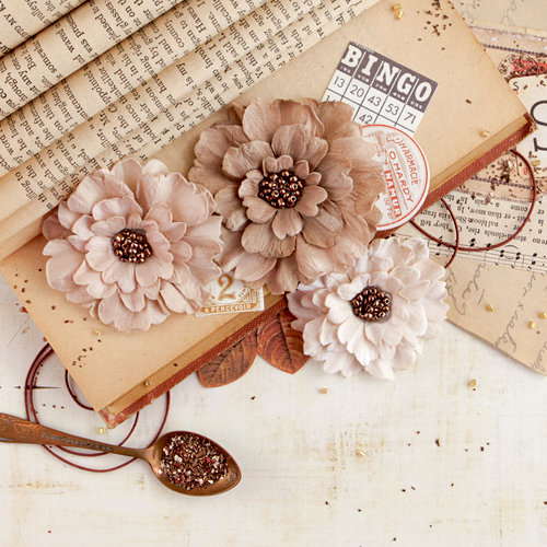 Prima - Vintage Emporium Collection - Flower Embellishments - Florence