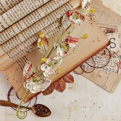 Prima - Vintage Emporium Collection - Flower Embellishments - Aria