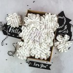 Prima - Flower Embellishments - Box - Chalkboard Love