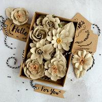 Prima - Flower Embellishments - Box - Sandstone