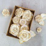 Prima - Flower Embellishments - Box - Gold Kiss